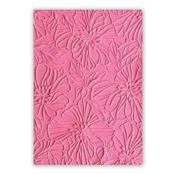 663601 - Sizzix 3-D Textured Impressions Embossing Folder - Azaleas by Courtney Chilson